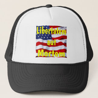 American Flag Libertatem aut Mortem (Latin for Trucker Hat