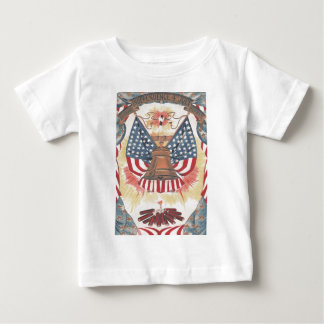 American Flag Liberty Bell Fireworks Baby T-Shirt