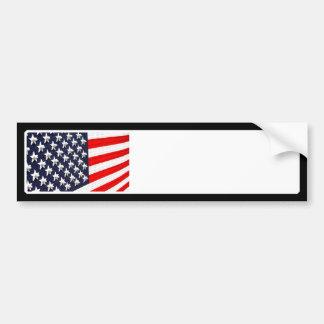 American Flag Light Display Bumper Sticker