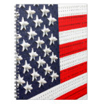 American Flag Light Display Notebook