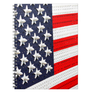 American Flag Light Display Spiral Notebook