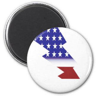 American Flag - lightning shape Refrigerator Magnet