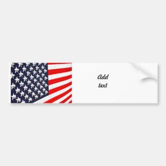 American Flag Lights Display Car Bumper Sticker