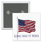 american flag, long may it wave button