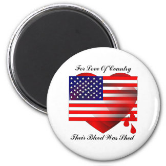 American Flag / Love Of Country Magnet