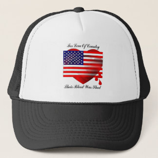 American Flag / Love Of Country Trucker Hat
