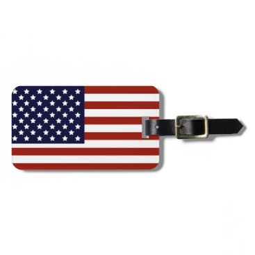 Valentines Themed American Flag Luggage Tag