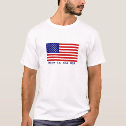 American Flag Made in the USA Mens T-shirt