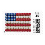 American flag made of cupcakes postage