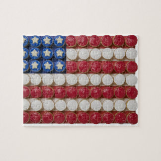 American flag made of cupcakes puzzle