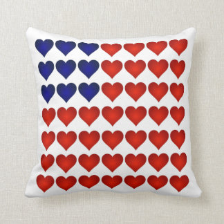 American Flag Made Of Hearts 222 Pillow