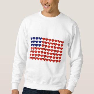 American Flag Made of Hearts Sweatshirt