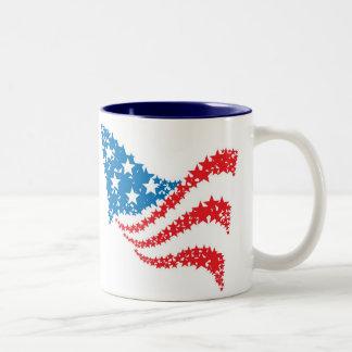 American Flag made of stars mug