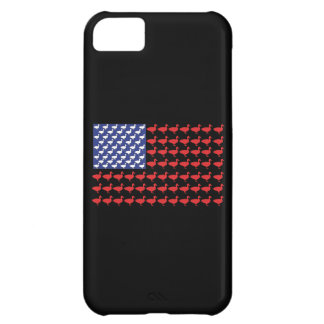 American Flag Made Out Of Ducks Cover For iPhone 5C