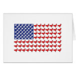 American Flag Made Out Of Ducks Greeting Card
