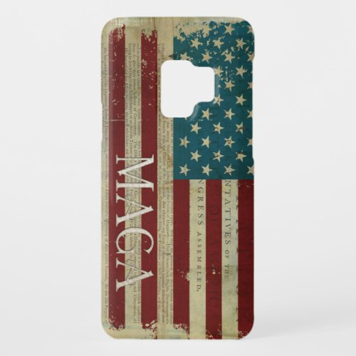 American Flag MAGA Declaration of Independence Phone Case