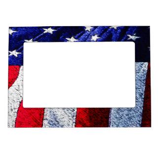 American Flag Magnetic Frame