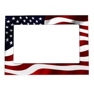 American Flag Magnetic Photo Frame