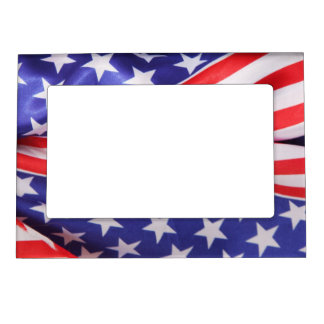 American Flag Magnetic Picture Frame
