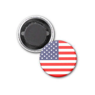 American flag magnets | Round