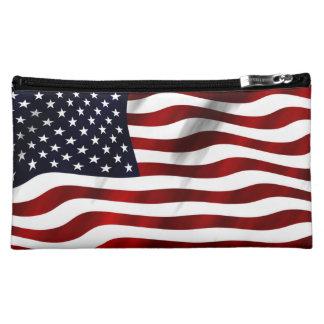 American Flag Makeup Bag