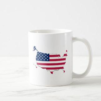 American Flag-Map Coffee Mug
