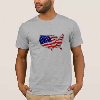 American Flag Map USA T Shirt