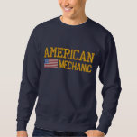 American Flag Mechanic Embroidered Embroidered Sweatshirt