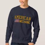 American Flag Mechanic Embroidered Sweatshirt