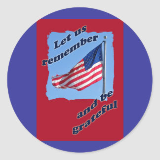 American Flag Memorial Day Stickers