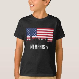 American Flag Memphis Skyline T-Shirt