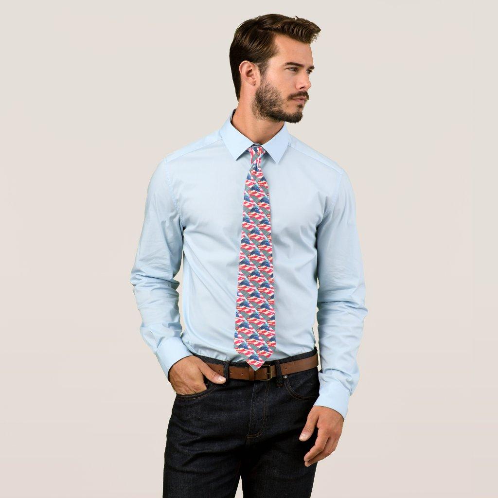 American Flag Men's Tie
