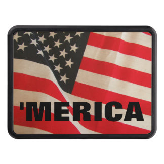 American Flag  'Merica Trailer Hitch Covers