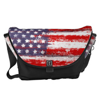american flag, courier bags