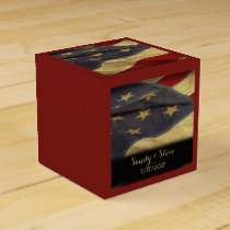 American Flag Military Wedding Favor Box