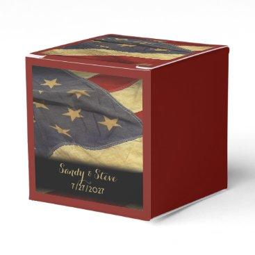 fancyhouse American Flag Military Wedding Favor Box
