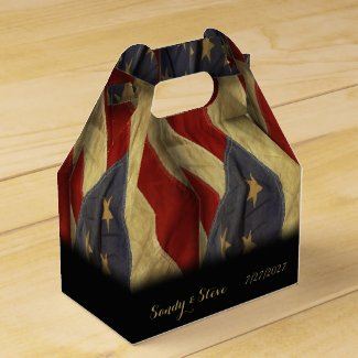 American Flag Military Wedding Favor Boxes