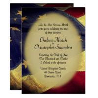 American Flag Military Wedding Invitation