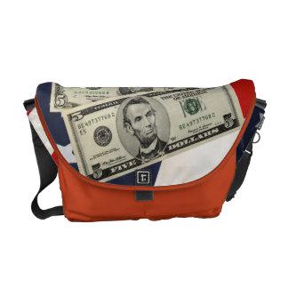 American Flag & Money Messenger Bag