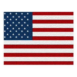 American Flag Mosaic Pattern Postcard