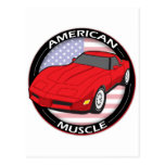 American Flag Muscle Post Card