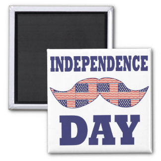 American Flag Mustache Fridge Magnet