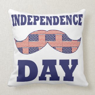 American Flag Mustache Pillow