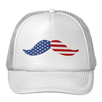 American Flag Mustache Trucker Hat Trucker Hat