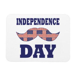American Flag Mustache Vinyl Magnets