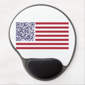 American Flag National Anthem QR Code Gel Mousepads