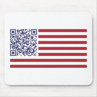 American Flag National Anthem QR Code Mouse Pad