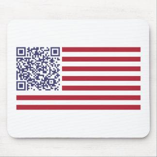 American Flag National Anthem QR Code Mousepad