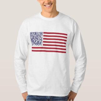 American Flag National Anthem QR Code Tee Shirts