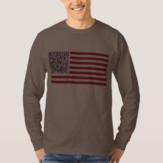 American Flag National Anthem QR Code Tshirt